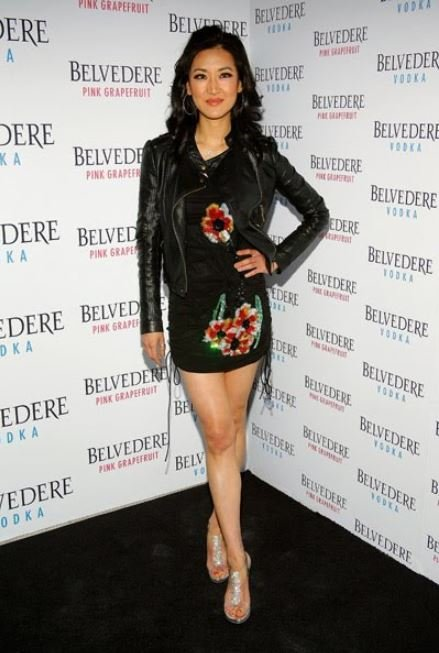 Kelly Choi arrived at the Belvedere Pink Grapefruit function.