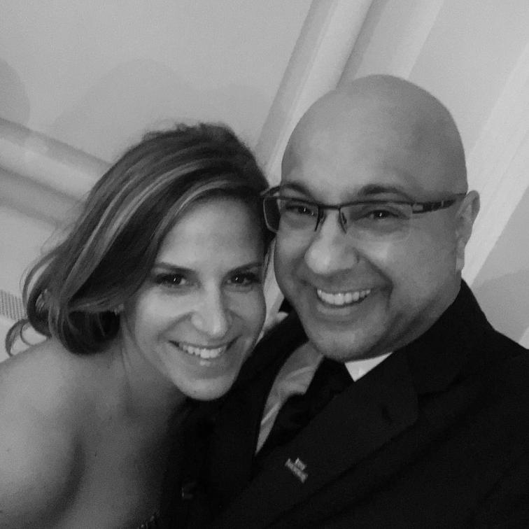 Ali Velshi with his wife, Lori Wachs.