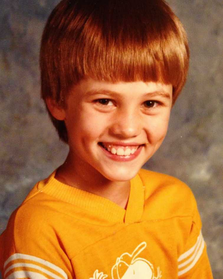 Childhood photo of Willie Robertson when he was in third grade.