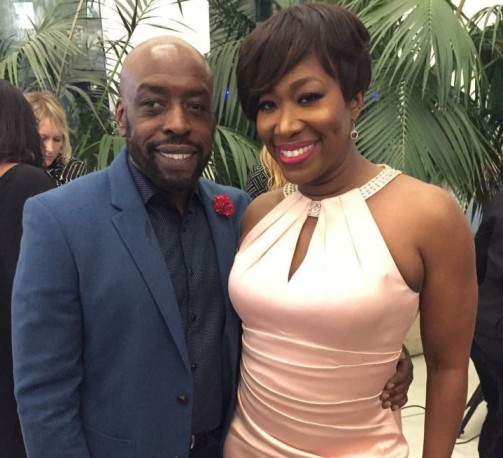 Jason Reid with his wife, Joy Reid.