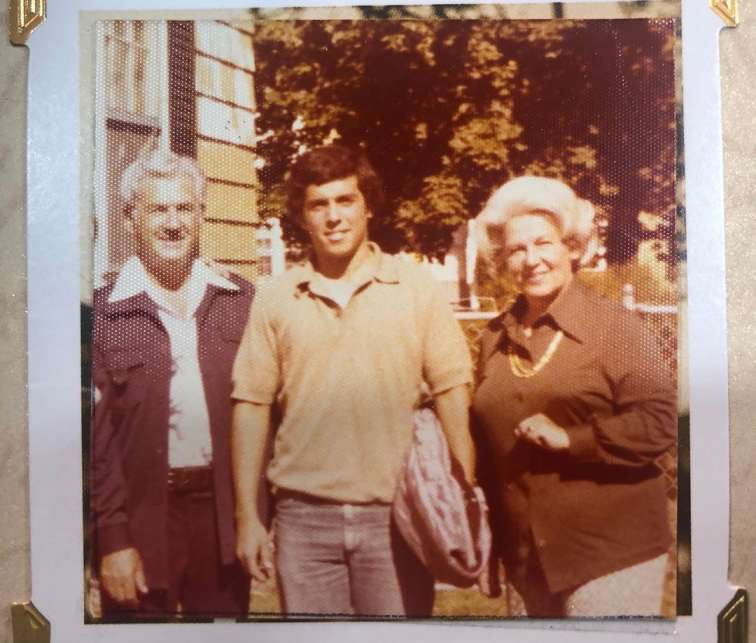 Margaret Anne Williams' husband with her mother-in-law and father-in-law.