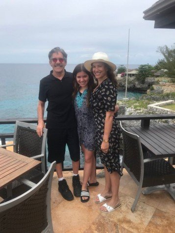 Erica Michelle Levy in a vacation in Jamaica with her husband and daughter.