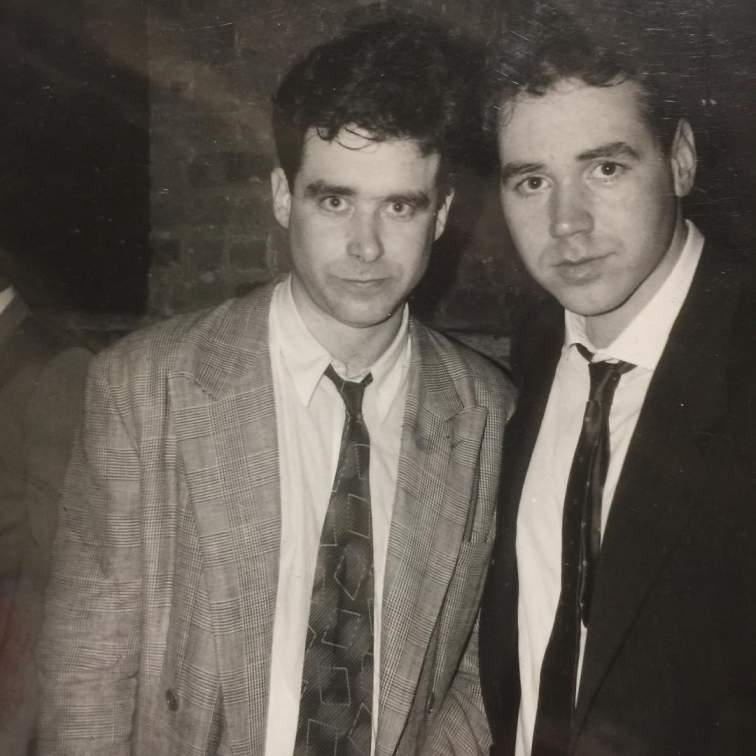 Photo of Jay McInerney with his friend Patrick McMullan when they were young.