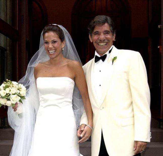 Erica Michelle Levy and Geraldo Rivera's wedding ceremony.