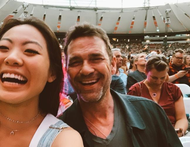 Nicole Kang went to Mumford and Sons' concert with her friend, Dougray Scott.