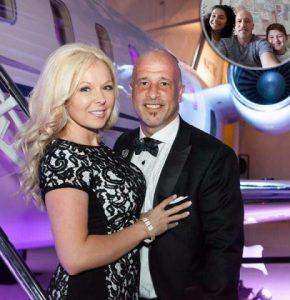 Brett Raymer with his wife, Trisha Chamberlin in Las Vegas, Nevada.
