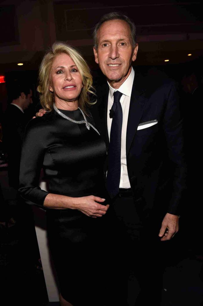 Howard Schultz with his wife, Sheri Kersch.