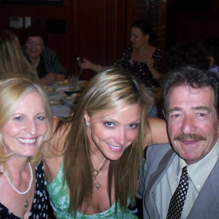Debbie Matenopoulos with her parents in Virginia Beach, Virginia on 17th June 2019.
