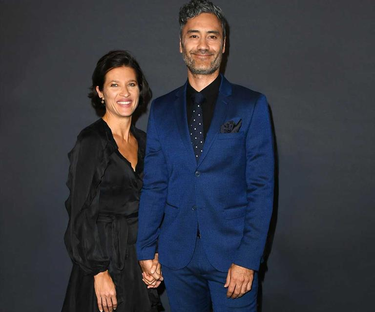 Taika with his wife, Chelsea
