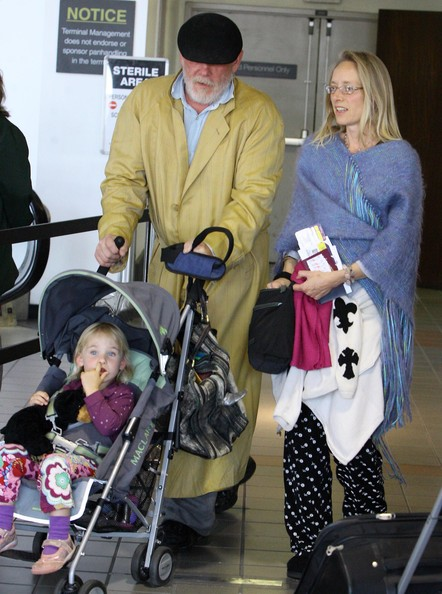 Nick with his current wife, Clytie Lane and their daughter