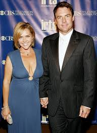 Mark Steines (right) with his ex-wife Leanza Cornett (left)