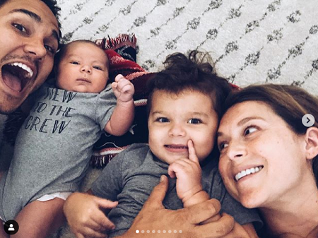 Alexa PenaVega with her spouse and kids