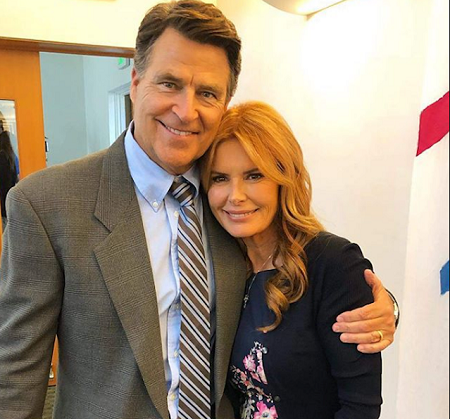 Gigi Rice and her spouse Ted McGinley