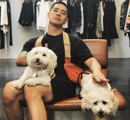 Brian Puspos and his dogs