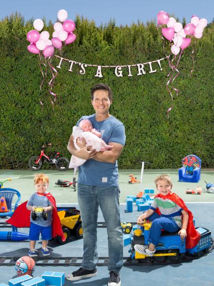 Scott Wolf with his children