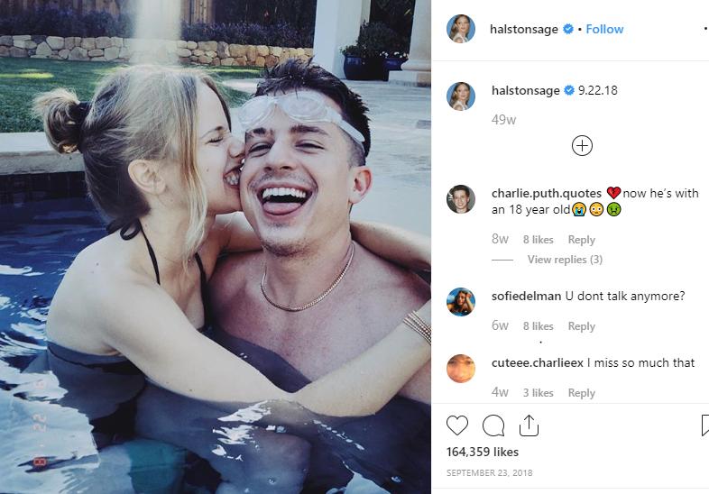 Halston Sage with her possible boyfriend