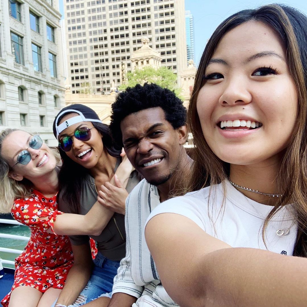 Meagan Tandy enjoy her vaccation with her friends