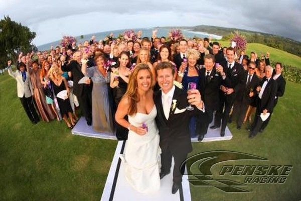 Ryan Briscoe and his wife Nicole Briscoe shared the wedding vows in the presence of 100 gust