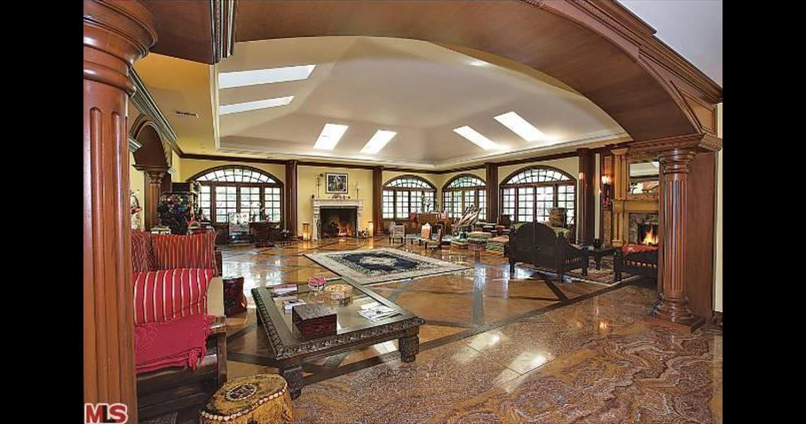 Interior of Nolte Malibu Mansion