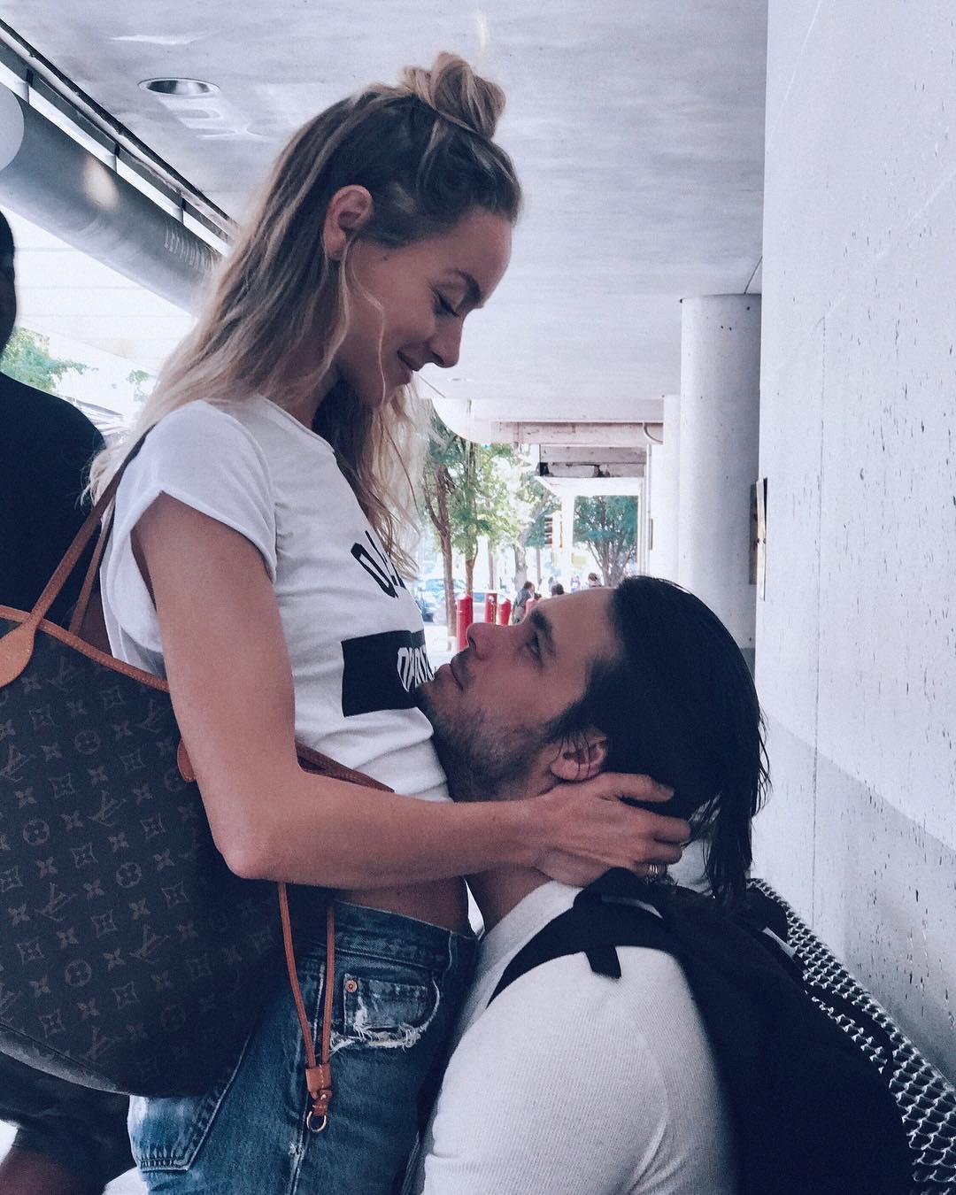 Rachel Skarsten and her boyfriend