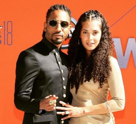 Brandon T.Jackson along with his wife, Denise Xavier