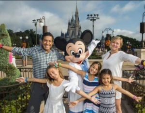 Rebecca Olson and Sanjay Gupta along with their children