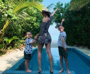 Emma Glover, with her two adorable children