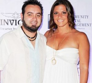 Chris Kirkpatrick with his wife, Karly Skladany