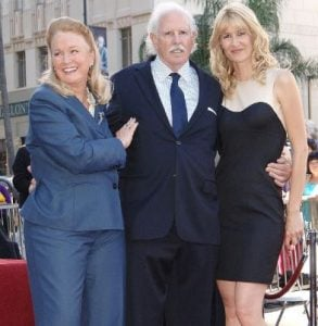 Diane Ladd with her ex-husband, Bruce Dern and their daughter, Laura Dern at their Hollywood Walk