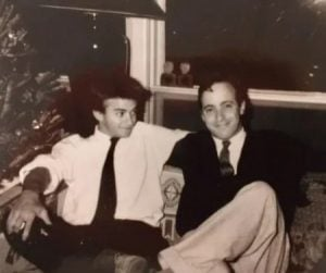 David Steinberg(right) in his early days along with his friend