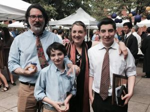 Eric Wolfhard with his family