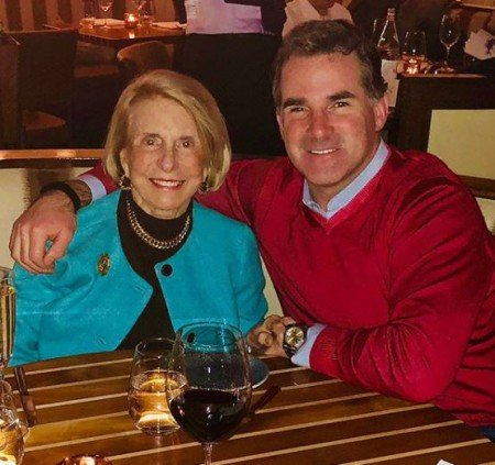Businessman, Kevin Plank along with his mother