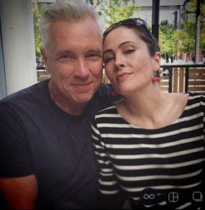 Jody Thompson with her husband, Bruce Marchfelder