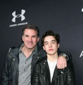 Kevin James Plank with his father, Kevin Plank