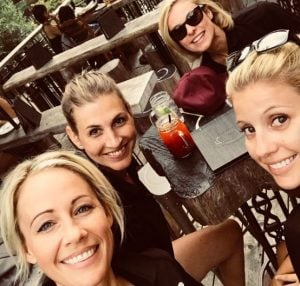 Laura Diakun spending a weekend with her friends in Mont Tremblant