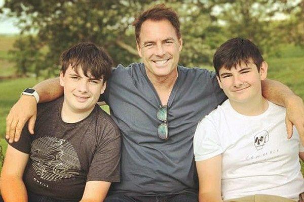Leanza Cornett's sons with Mark
