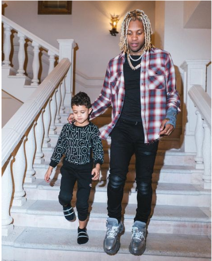 Lil Durk and his son