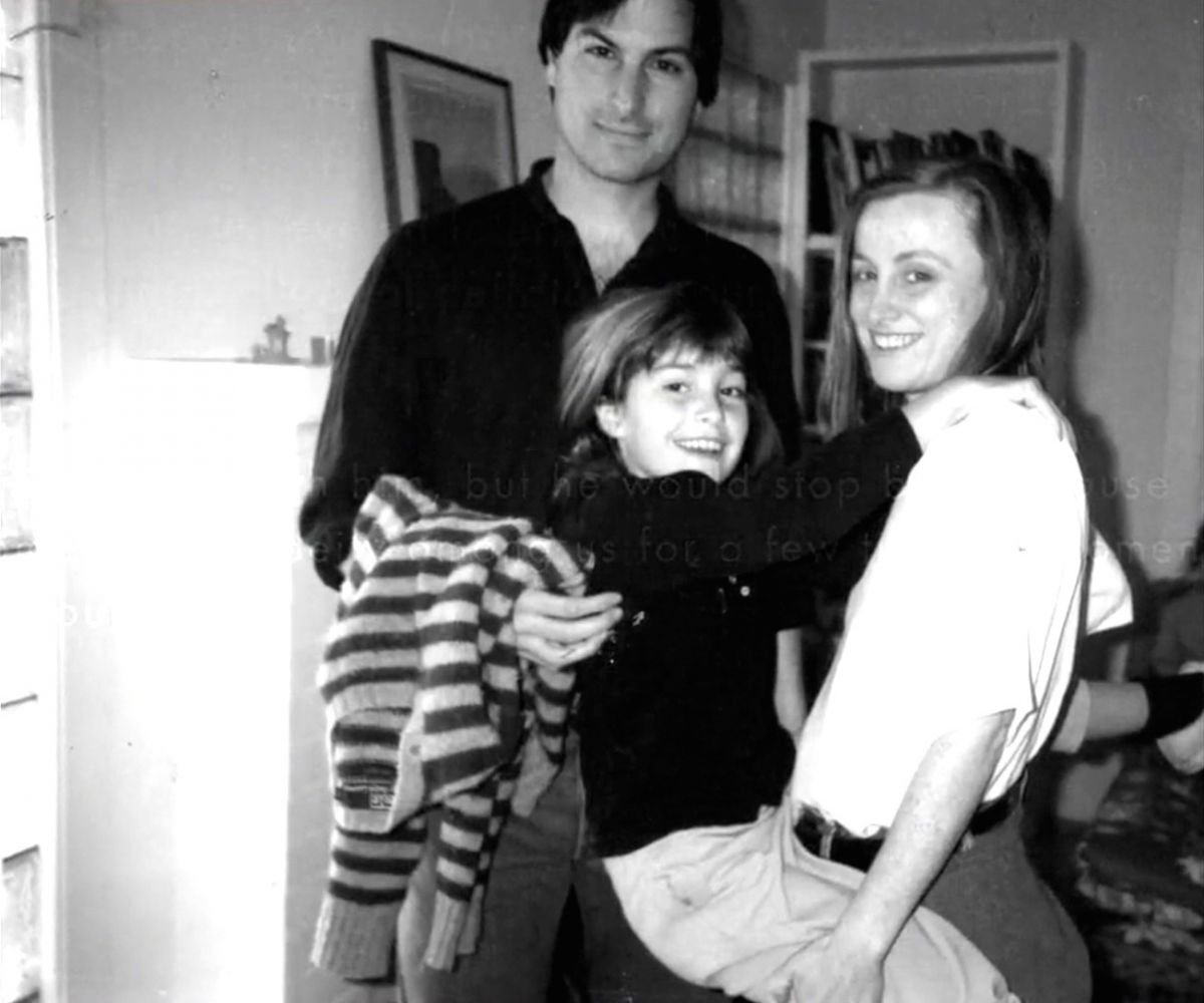 Lisa Brennan with her father Steve Jobs and his sister