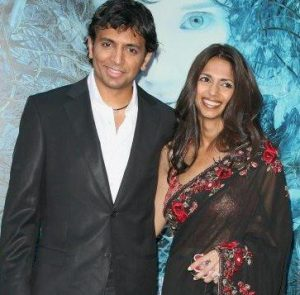 M. Night Shyamalan with his wife, Bhavna Vaswani
