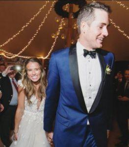 Madison McKinley and John Isner on their wedding day