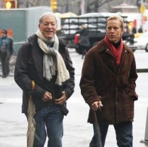 Richard Chamberlain with his ex-partner, Martin Rabbett