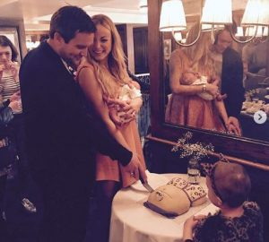 The couple with their daughter, Wren Ivy