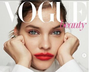 Barbara Palvin as a cover model in the famous magazine, VOGUE
