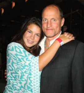 Woody Harrelson with his daughter, Denni Montana Harrelson