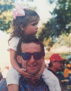 Childhood image of Madison McKinley along with her daddy, Mark McKinley