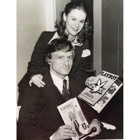 Christie Hefner with her father Hugh Hefner