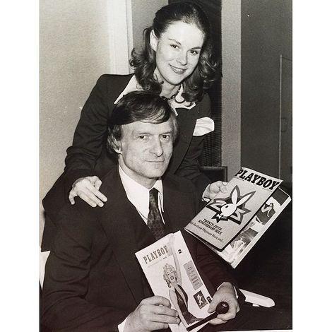 Christie Hefner with her father Hugh Hefner