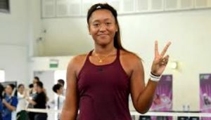 Naomi posing after her victory in Pacific open
