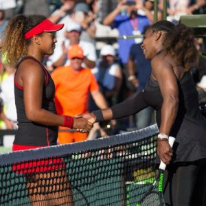 Naomi with her childhood idol Serena Williams