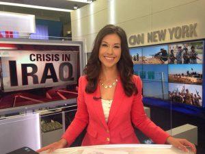 Benjamin's wife Ana presenting News on CNN studio